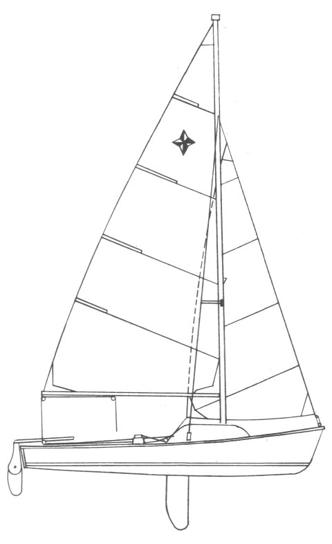Discoverer 18 drawing on sailboatdata.com