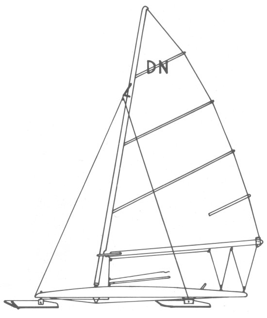 DN Ice Boat drawing on sailboatdata.com