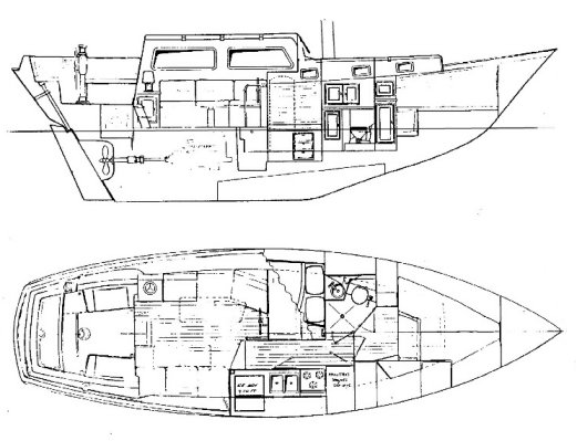 DOWNEASTER 41 drawing