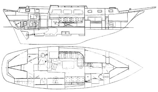 DOWNEASTER 45 drawing