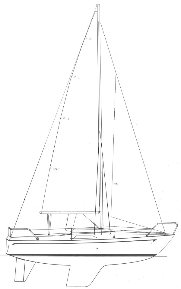 Drabant 24 drawing on sailboatdata.com