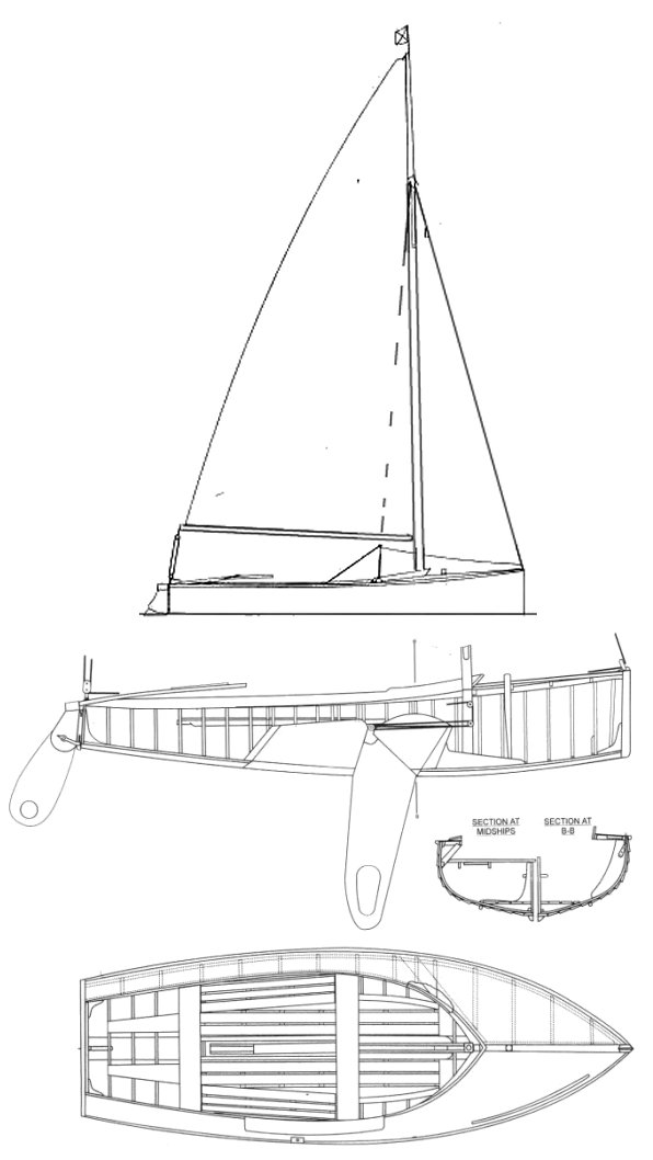 Dragonfly One-Design drawing on sailboatdata.com