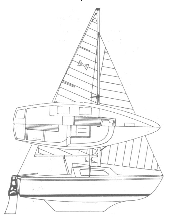 DS-18 drawing on sailboatdata.com
