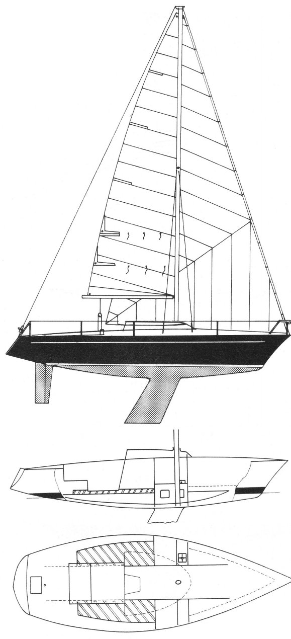 DUFOUR 1300 drawing