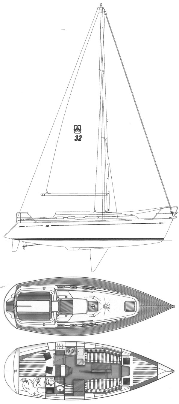 DUFOUR 32 INTEGRAL drawing