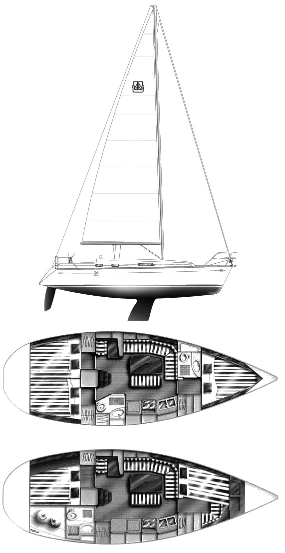 DUFOUR CLASSIC 36 drawing