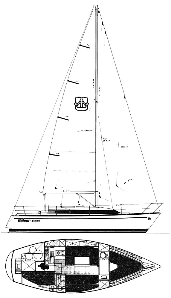DUFOUR 3800 drawing