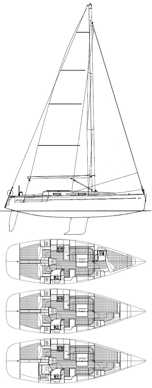 DUFOUR 40E drawing
