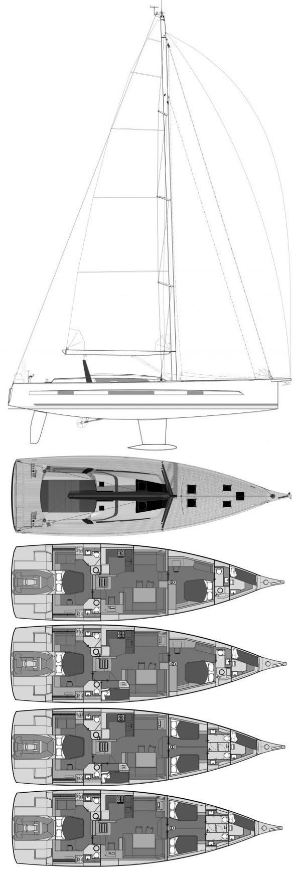 DUFOUR 63 drawing