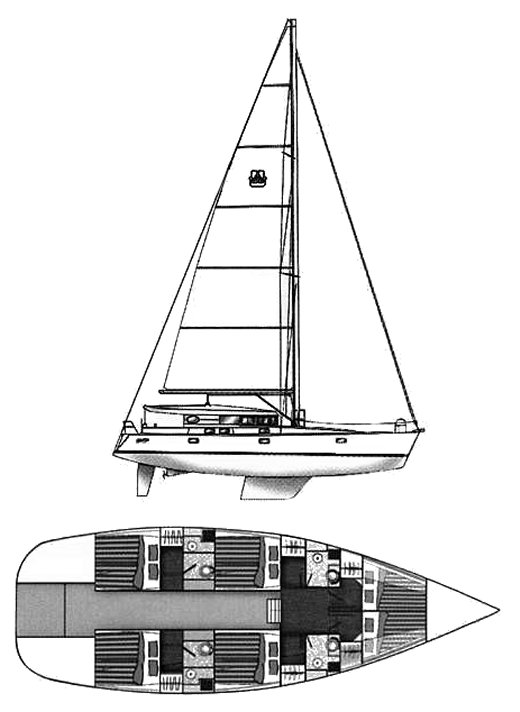 ATOLL 50 (DUFOUR) drawing