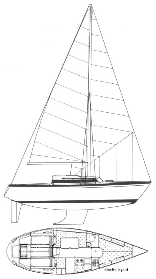 Dufour Safari 27 drawing on sailboatdata.com