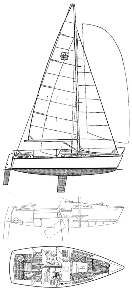 Dufour T7 drawing on sailboatdata.com