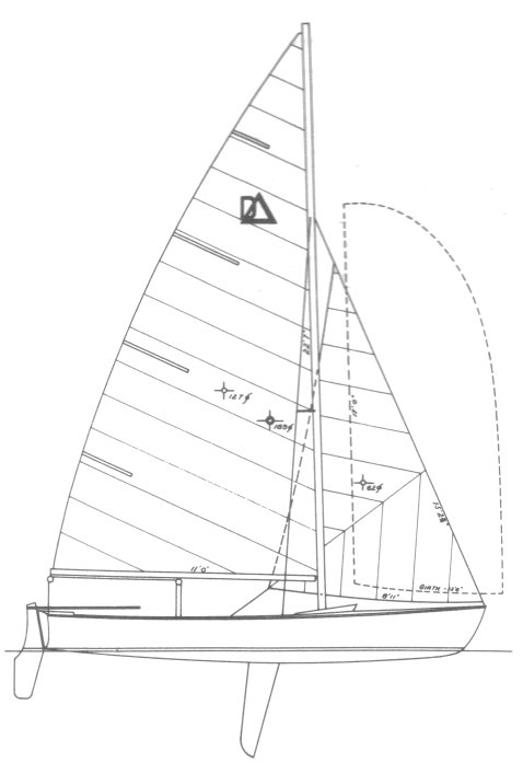 Dyer Delta 19 drawing on sailboatdata.com