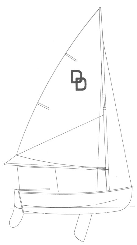 Dyer Dhow drawing on sailboatdata.com