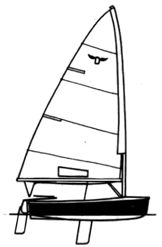 Dyer DT drawing on sailboatdata.com