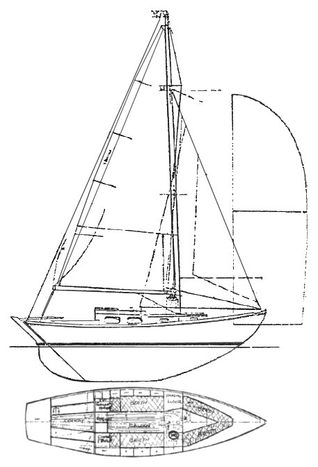 East Anglian drawing on sailboatdata.com