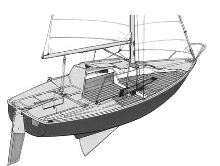 Edel 2 drawing on sailboatdata.com