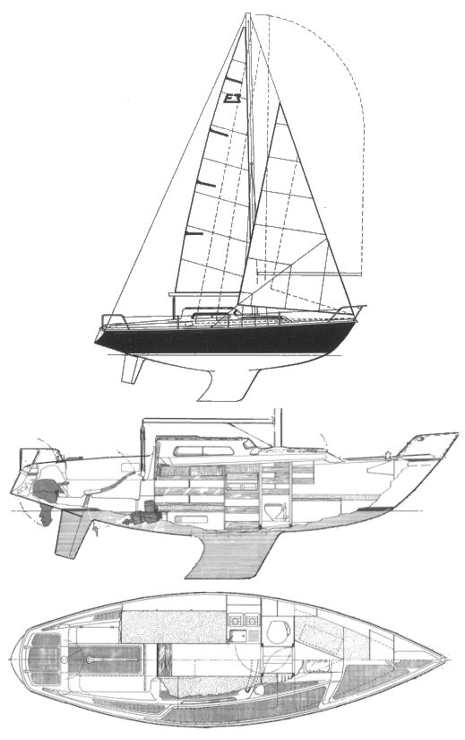 Edel 3 drawing on sailboatdata.com
