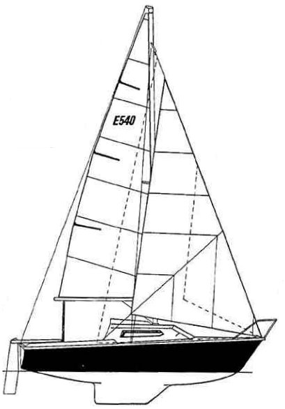 Edel 540 drawing on sailboatdata.com