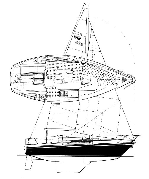 Edell 665 drawing on sailboatdata.com