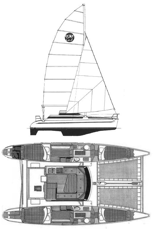 Edel Cat 35-1 drawing on sailboatdata.com