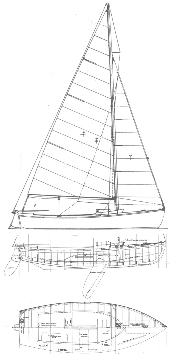 Edgartown Rover drawing on sailboatdata.com
