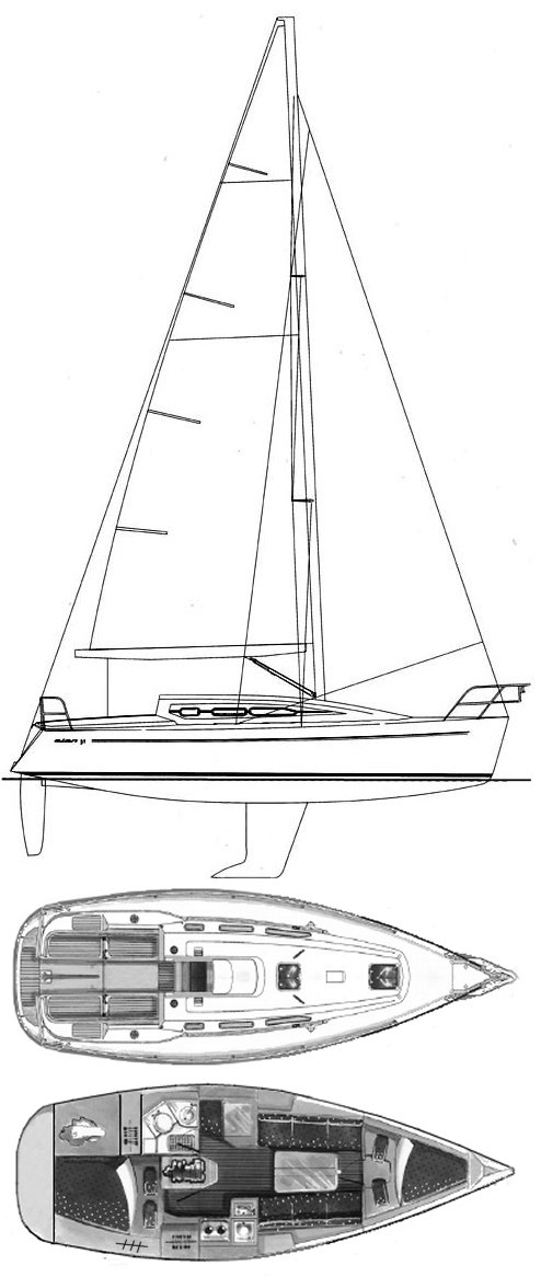 Elan 31 drawing on sailboatdata.com