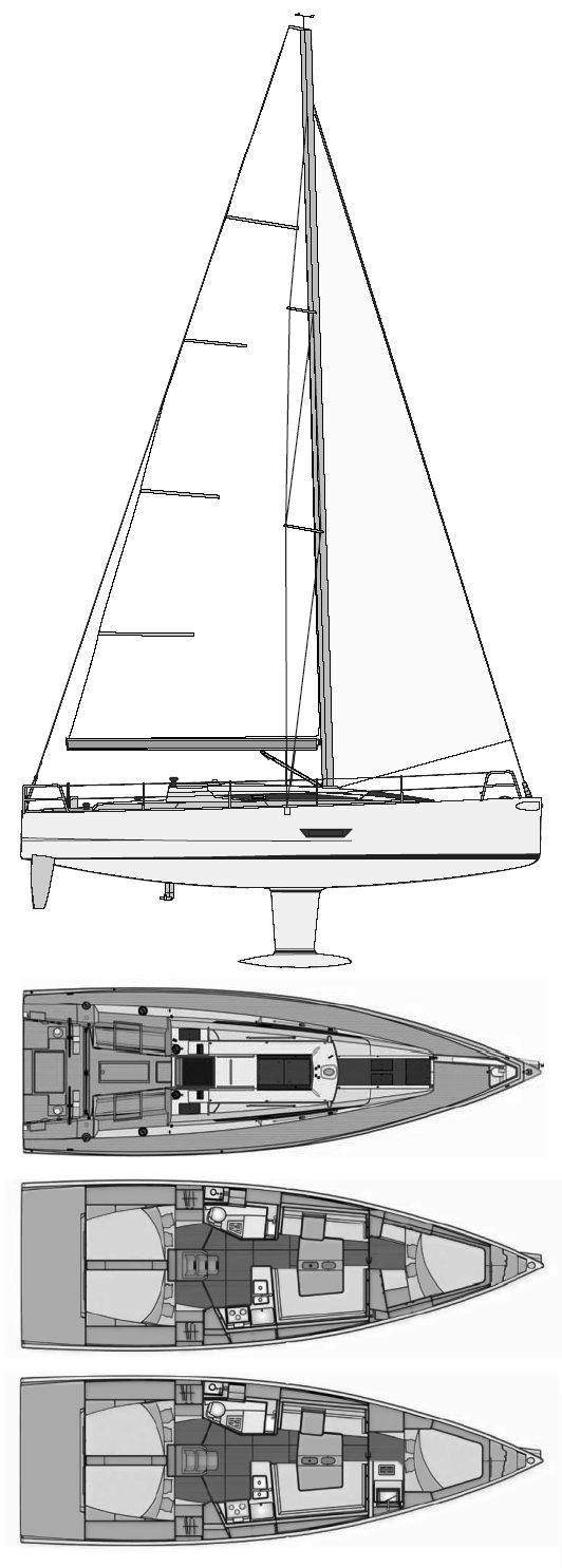 ELAN 400 drawing