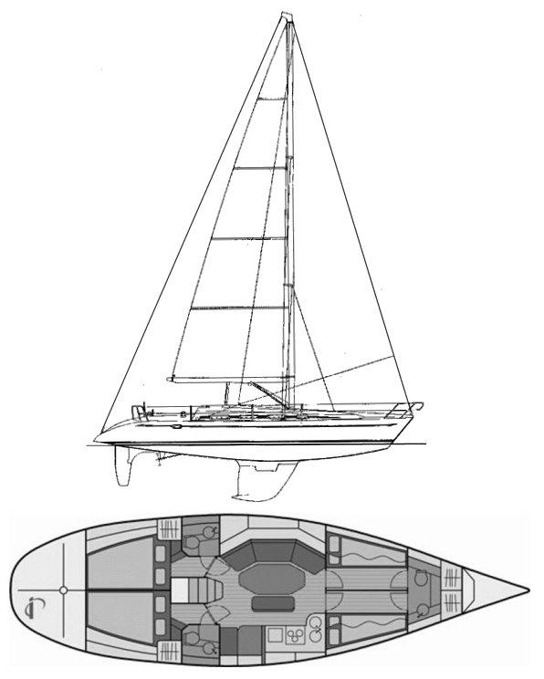 ELAN 431 drawing