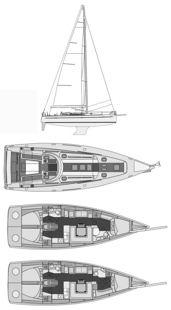 ELAN 450 drawing