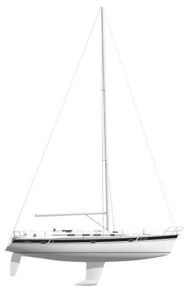 Elan 45 drawing on sailboatdata.com