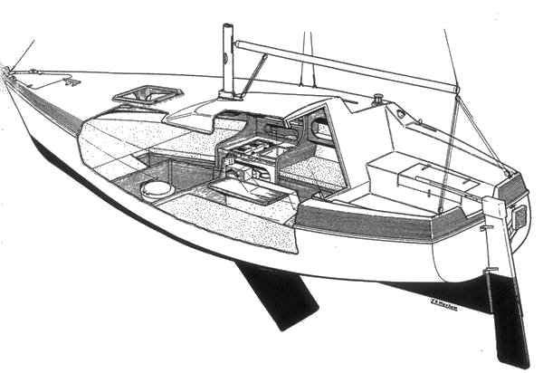 Elan 700 drawing on sailboatdata.com
