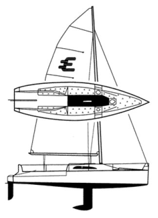Elliot 770 drawing on sailboatdata.com