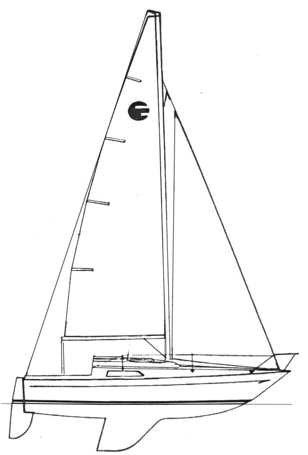 Elor 65 drawing on sailboatdata.com