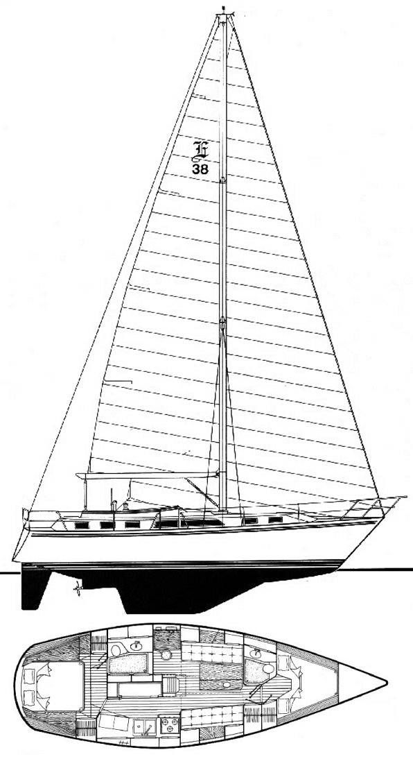 ENDEAVOUR 38 CC drawing