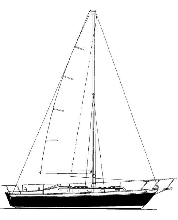 ENDEAVOUR 37 (SLOOP W/BOWSPRIT) drawing
