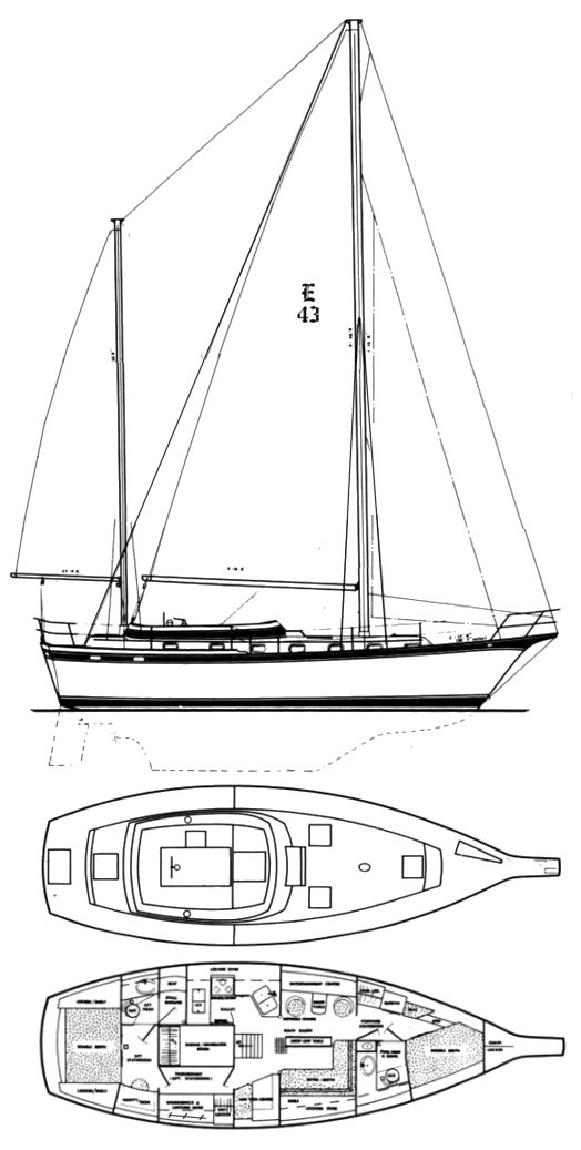 ENDEAVOUR 43 drawing