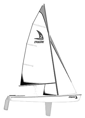 Equipe Dinghy drawing on sailboatdata.com
