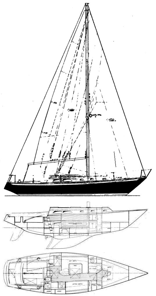 Ericson 35-2 drawing on sailboatdata.com
