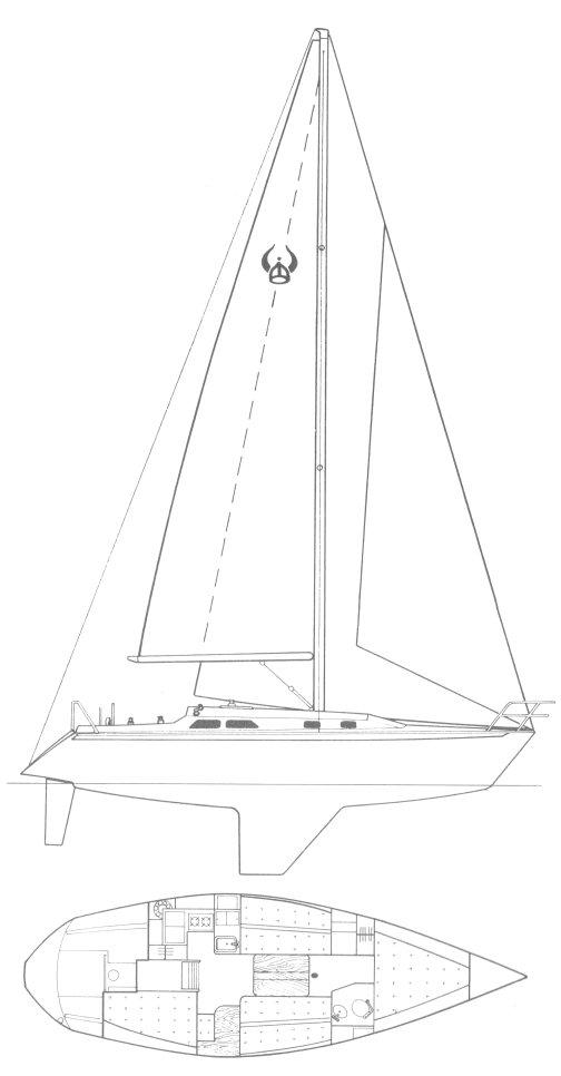ERICSON 36 drawing