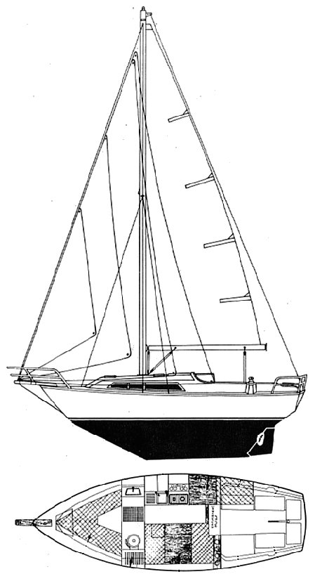 Escapade (Beneteau) drawing on sailboatdata.com