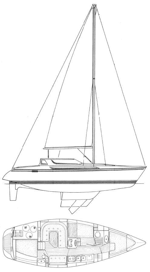 ESPACE 1100 (JEANNEAU) drawing