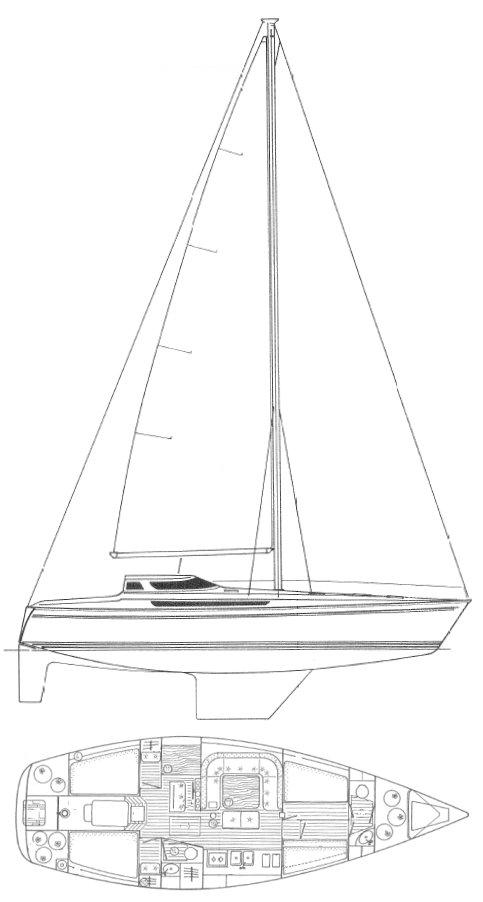 ESPACE 1300 (JEANNEAU) drawing