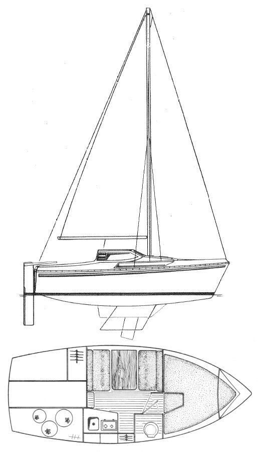 ESPACE 620 (JEANNEAU) drawing