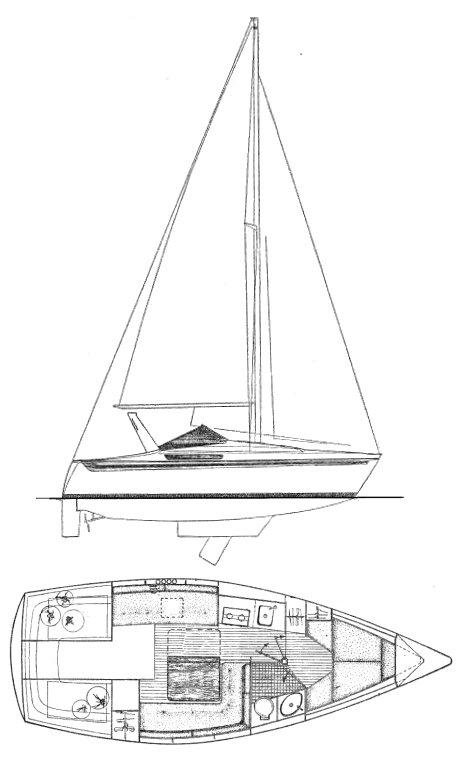 ESPACE 800 (JEANNEAU) drawing