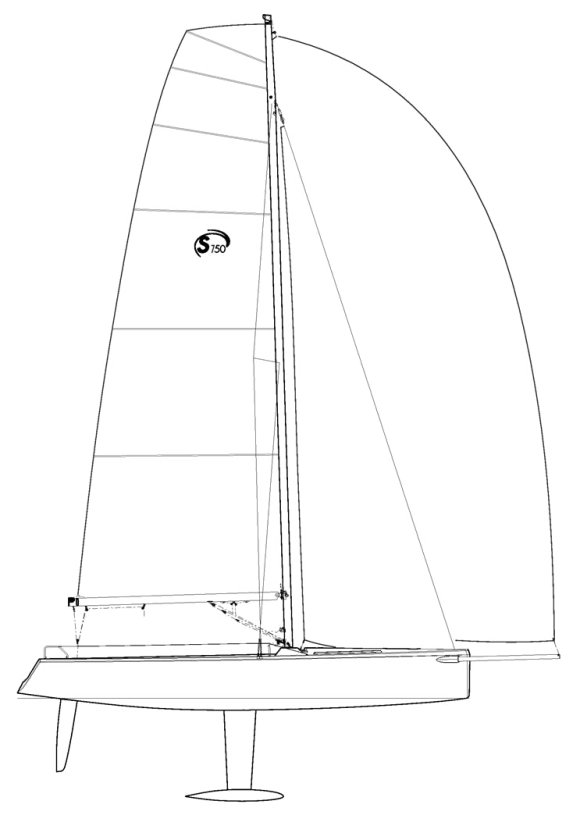 Esse 750 drawing on sailboatdata.com
