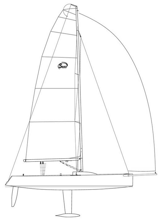 Esse 850 drawing on sailboatdata.com