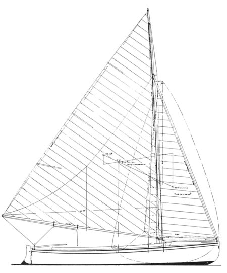 Essex One-Design drawing on sailboatdata.com