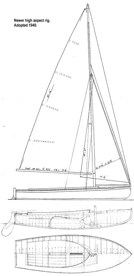 ESTUARY ONE-DESIGN (UK) drawing