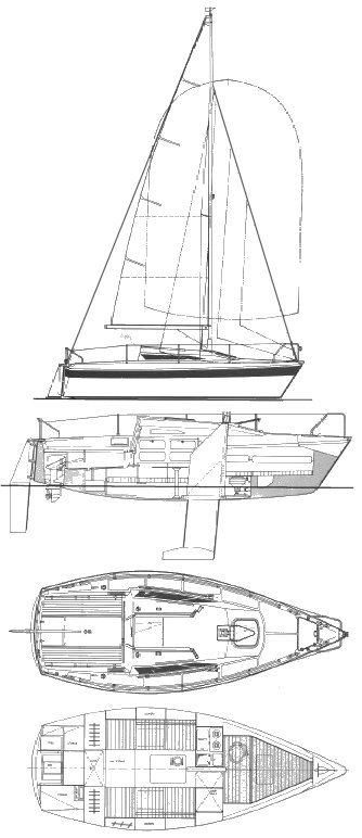 Etap 23 drawing on sailboatdata.com